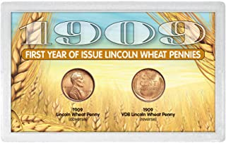 """product image for American Coin Treasures 1909 """"First-Year of Issue"""" Lincoln Wheat-Ear Pennies"""