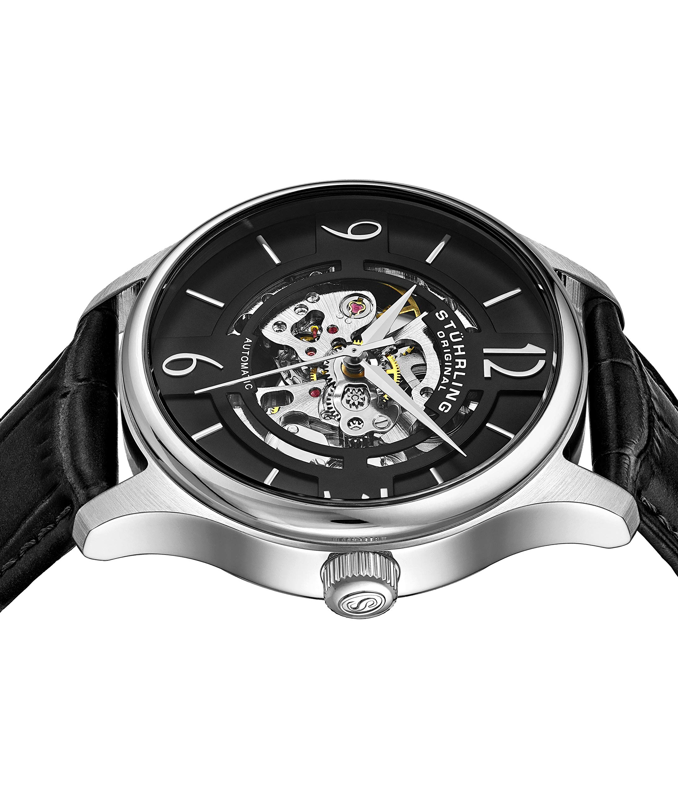 Stuhrling Original Mens''Specialty Atrium'' Skeleton Automatic Self Winding Dress Watch with Premium Leather Band by Stuhrling Original (Image #4)