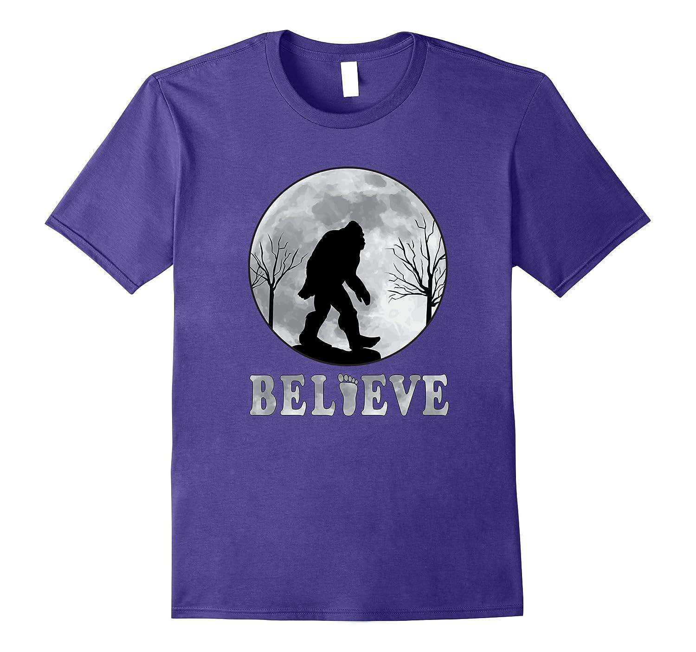 Bigfoot T-Shirt | Full Moon Sasquatch Believe Bigfoot TShirt-FL
