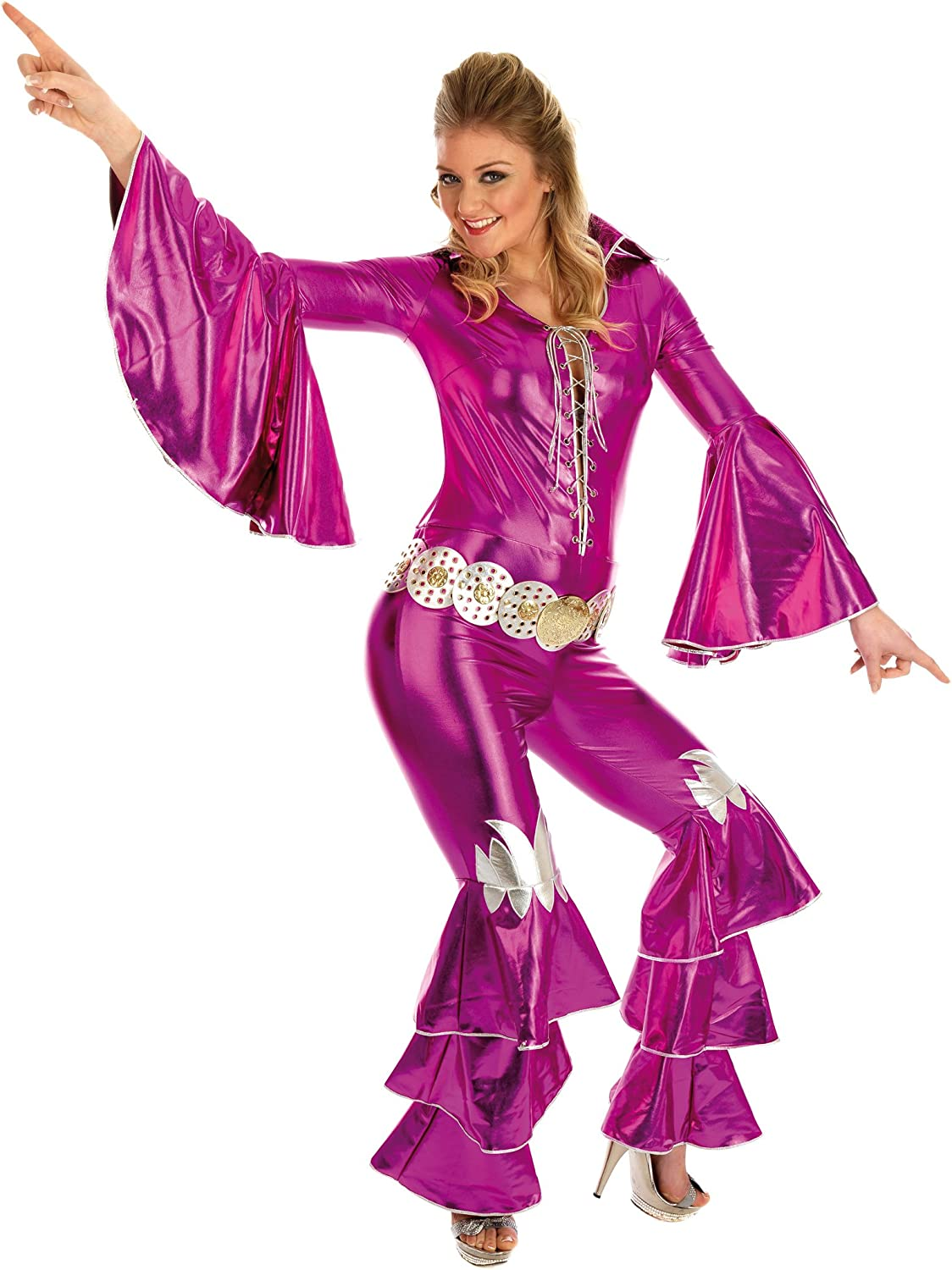 Pink Dancing Queen - Abba. Costume Fancy Dress Clothing. Size : XS ...