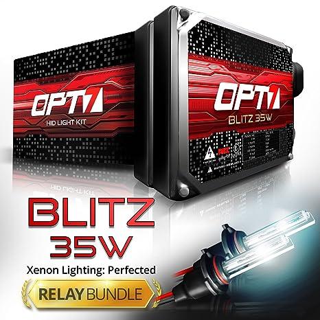 81Fc8qI3pOL._SX466_ amazon com opt7 blitz 35w h1 hid kit relay bundle all bulb
