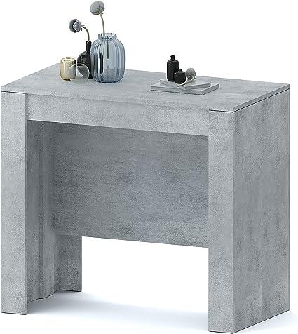 Tavolo Consolle Allungabile Oslo Plus Fino A 3 Metri Tavolo 14 Posti Salvaspazio Multiposizione Design Moderno Ed Elegante Consolle Per Casa E Ufficio 78 X 51 X 90 Cm Colore Grigio Cemento