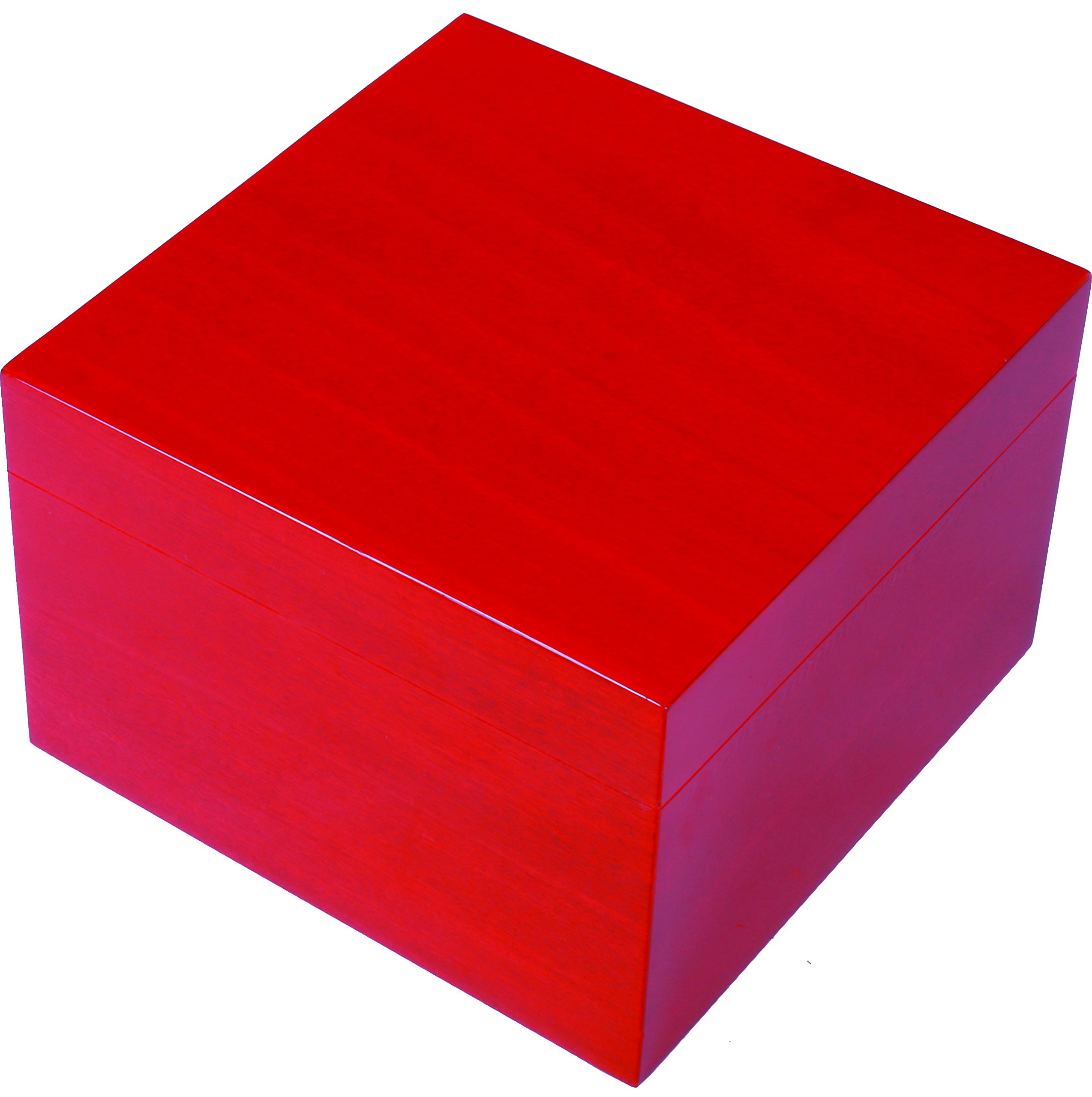 Ercolano Luxury Handmade Wooden Jewelry Boxes- Red 6''L x 6''H x 4''