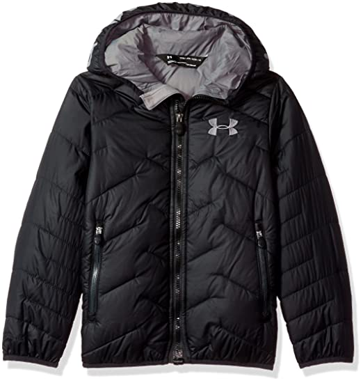 f49f045b3 Under Armour Outerwear Youth Boys Cold Gear Reactor Hooded Jacket,  Black/Graphite, X