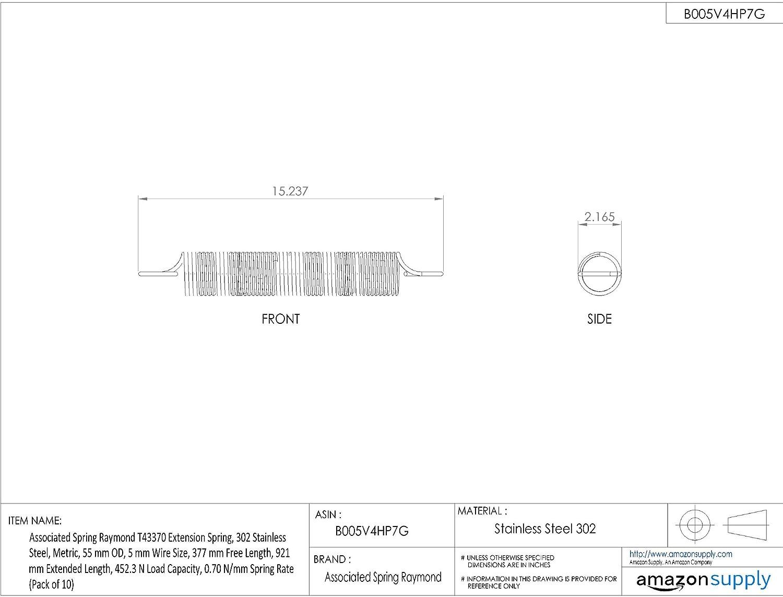 Associated Spring Raymond T43330 Extension Spring, 302 Stainless LED Light  Bar Wiring Diagram Raymond Wiring Diagram