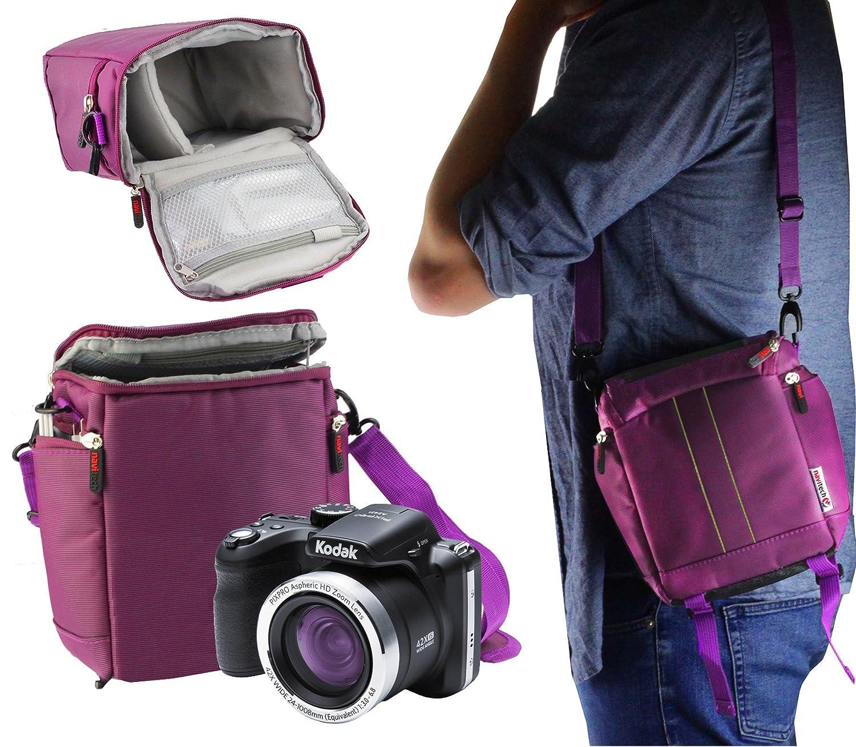 Navitech パープル デジタル一眼レフカメラ キャリングケース トラベルバッグ Canon EOS M6に対応 B07JNCJG1L