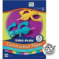 "Construction Paper, 10 Vibrant Colors, 9"" X 12"", 50 Sheets"