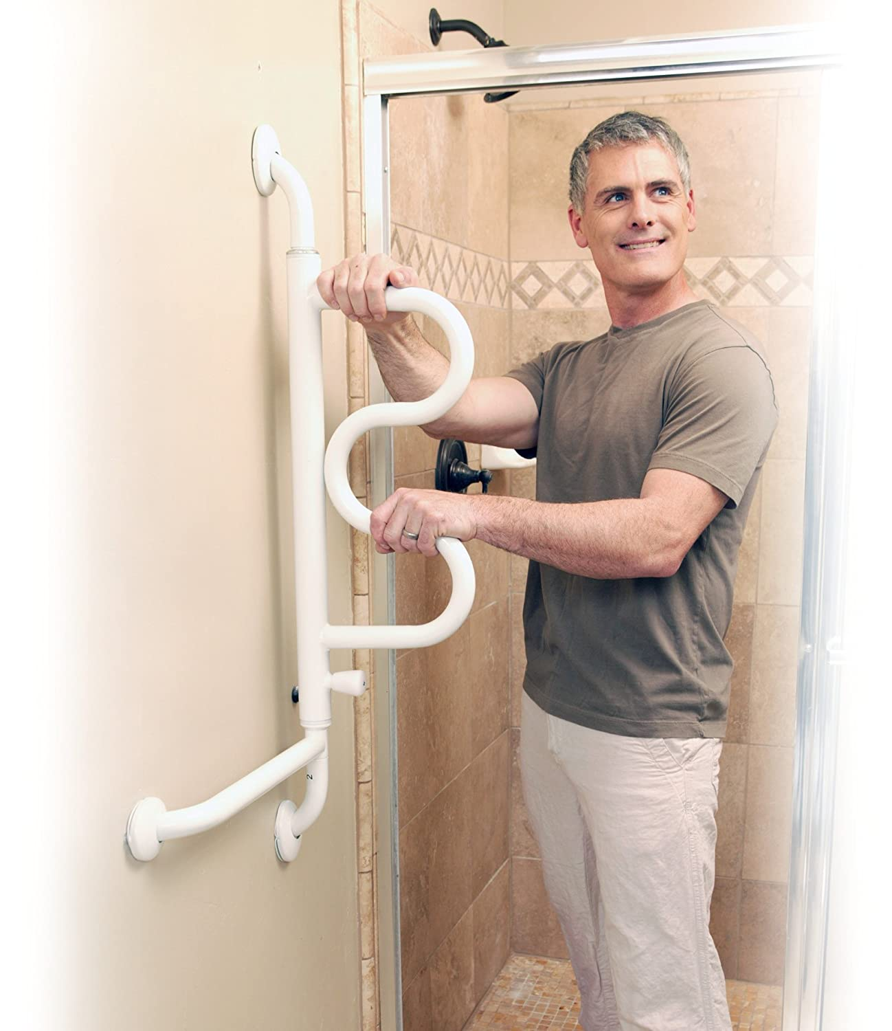Amazon.com: Stander The Curve Grab Bar - Elderly Rotating Wall ...