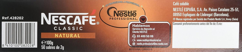 NESCAFÉ Café soluble Natural - 2 Estuches De 50 Sobres de Café - 200g: Amazon.es: Alimentación y bebidas