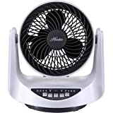 Hunter FSQ-MF09F-W Whole Room Table Fan - White (Room Fan)
