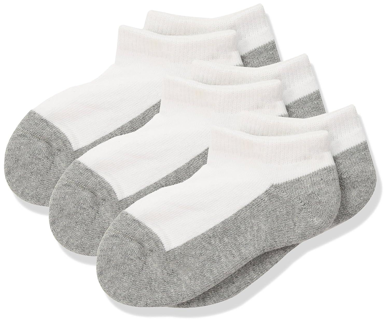 nice Jefferies Unisex Child Seamless Sport Low Cut Half Cushion 3 Pk - White/Grey - XSmall hot sale