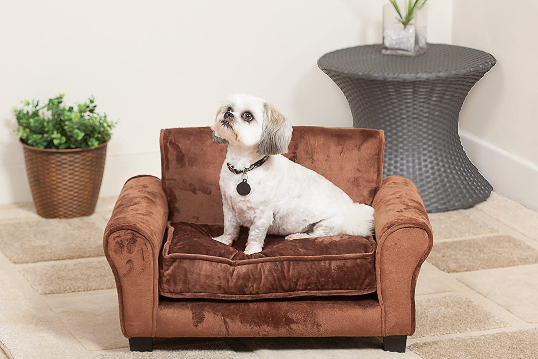 Elska Club Chair Pet Bed Tan