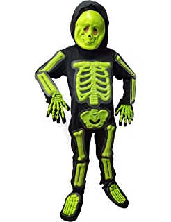 Halloween Skeleton Boys Budget Costume Medium Sz 5-7
