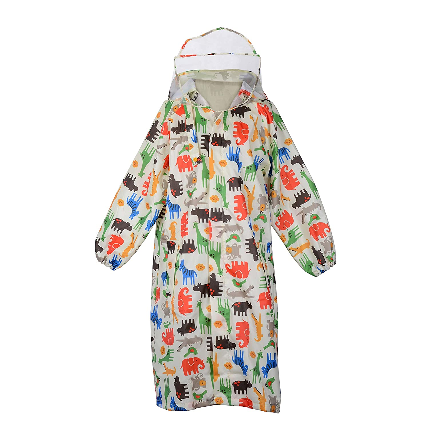 Wolfteeth Children Waterproof Kids Hooded Coat Jacket Outwear Raincoat for Travel, Outdoor, Camping, School, Riding Suit Age 2-10 Years Riding Suit Age 4-6 Years 4025002UK