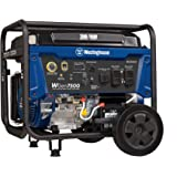 Westinghouse WGen7500 Portable Generator with Electric Start - 7500 Rated Watts & 9500 Peak Watts - Gas Powered - CARB Compliant