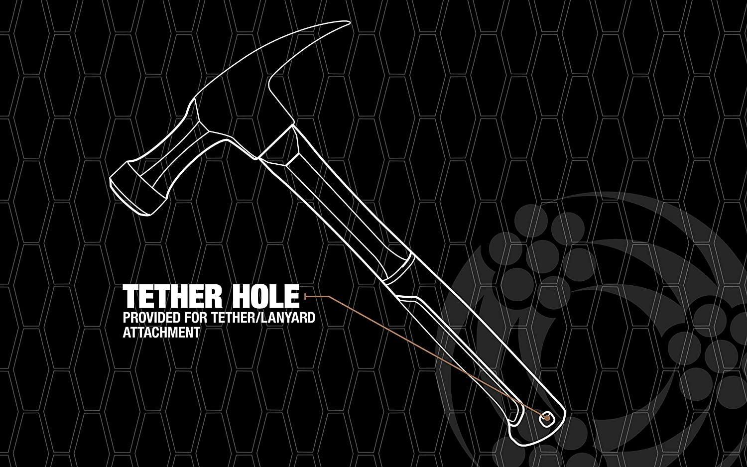 Head With Smooth Face 1.75 lbs. Southwire Bmeh-20 Heavy Duty Electricians Hammer 20 Oz Light Weight Fiberglass Handle Heavy Duty Drop Forged Steel Teather Hole For Saftey