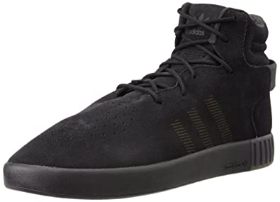 newest 7bc3d e4a8e adidas Originals Men's Tubular Invader Onix, Onix and Black Leather Sneakers