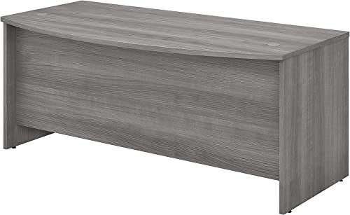 Bush Business Furniture Studio C Collection Bow Front Desk, Platinum Gray
