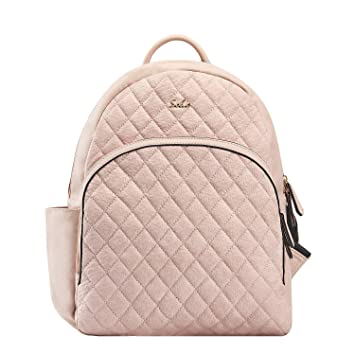 c8abffc2bd10f Amazon.com : SoHo Collections Boise Baby Diaper Bag Backpack with Changing  pad Stroller Straps and Insulated Pockets 3 Pieces Set (Pink) : Baby