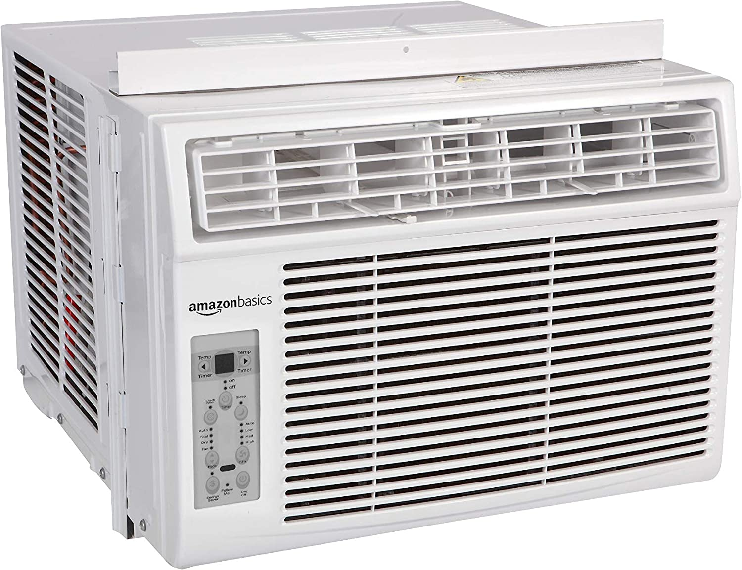 AmazonBasics Window-Mounted Air Conditioner with Remote - Cools 300 Square Feet, 8000 BTU, AC Unit