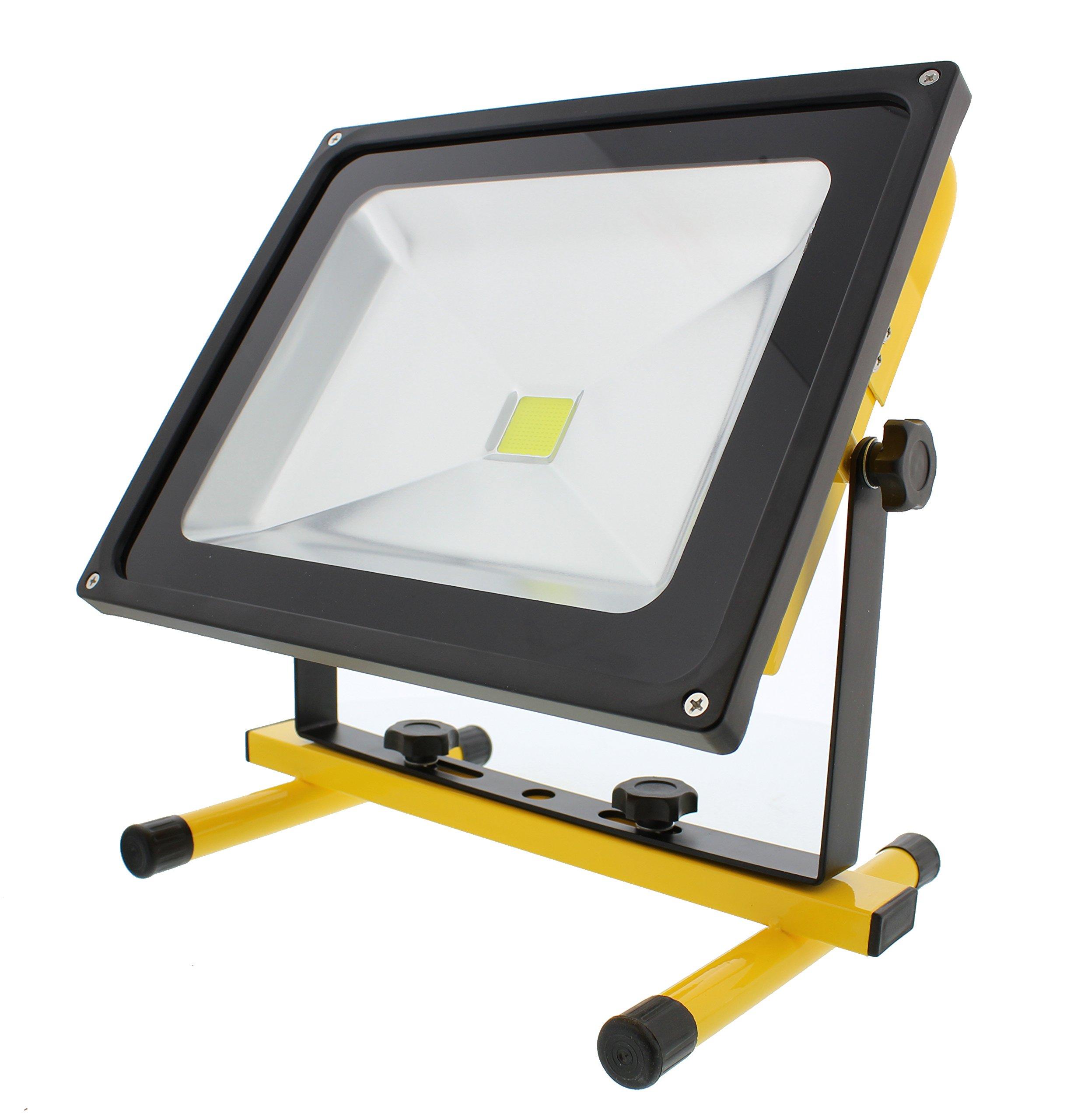 ABN LED Flood Light 50 Watts 4,500 Lumens 12V Indoor/Outdoor IP 65 Waterproof Rechargeable Portable Job Site Work Light