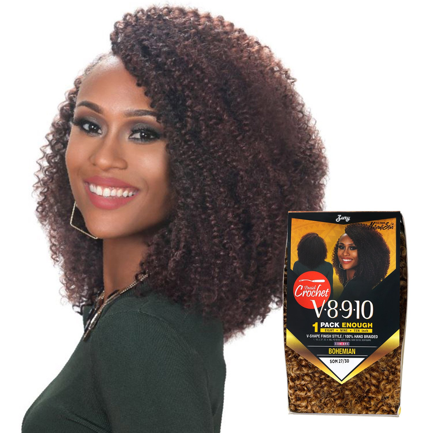 Amazoncom Royal Zury Synthetic Hair Crochet Braids V8910