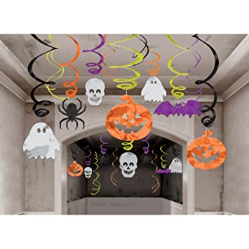 hanging swirl halloween theme - Halloween Hanging Decorations