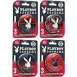 Playboy Condoms 24 Condones en 8 Latas con 3 Condones Extra sensitive Lubricados c\u