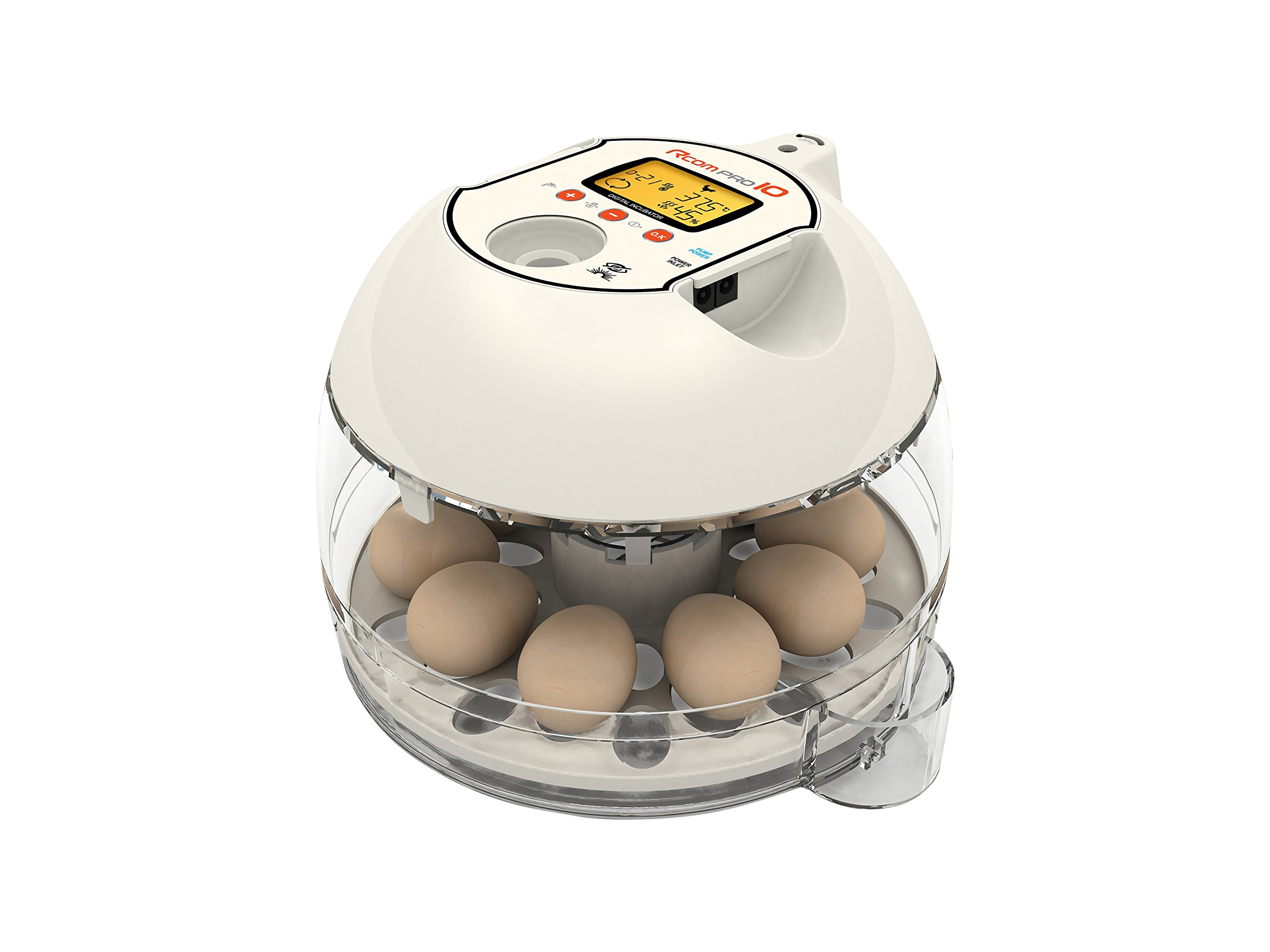 R-Com PX-10 Plastic/Metal Model 10 Pro Automatic Digital Auto-Turning Egg Incubator without APS