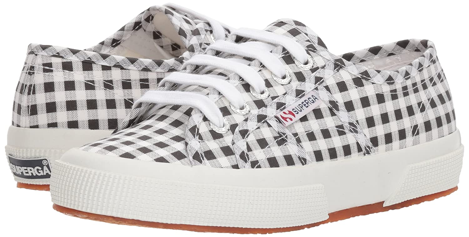 Superga Women's M 2750 Gingham Sneaker B0777NYZ1N 38 M Women's EU (7.5 US)|Black 965fcc