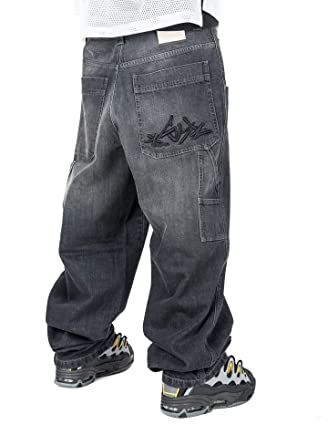Jeans THEBLUESKIN Skate Rap Pantaloni Baggy blueskin Hip Hop  Amazon.it   Abbigliamento baaecf7a2bb3