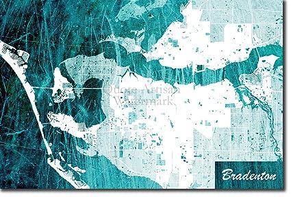 Map Of Bradenton Florida.Amazon Com Introspective Chameleon Bradenton Florida Usa Original
