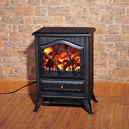 Fun Daisy 1850 W Log efecto llama ardiendo estufa eléctrica chimenea chimenea ventilador