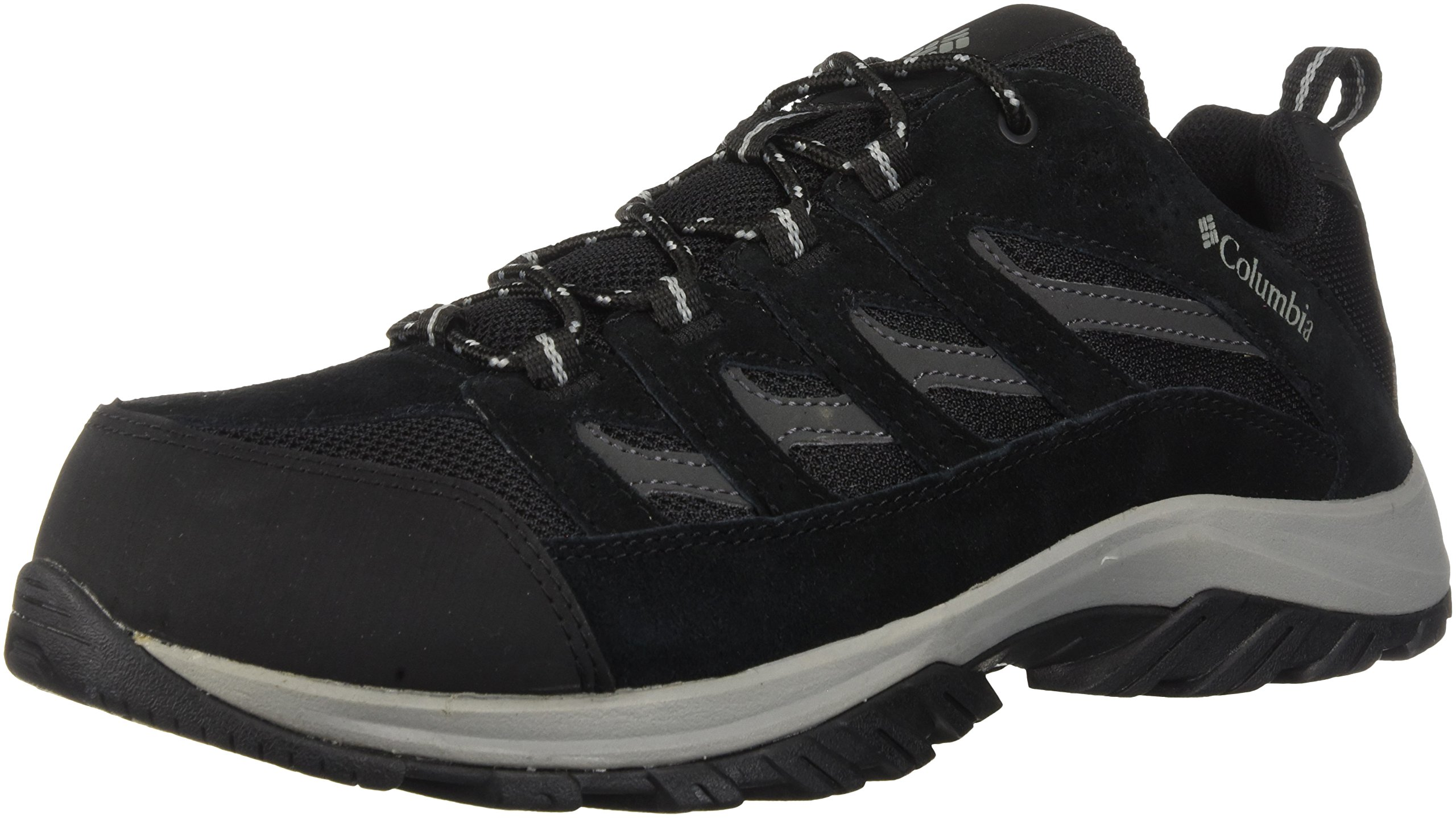 Columbia Men's Crestwood Wide Hiking Shoe, Black, Grey, 13 US