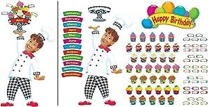 Happy Birthday Bake Shop Bulletin Board Set, 93 pieces