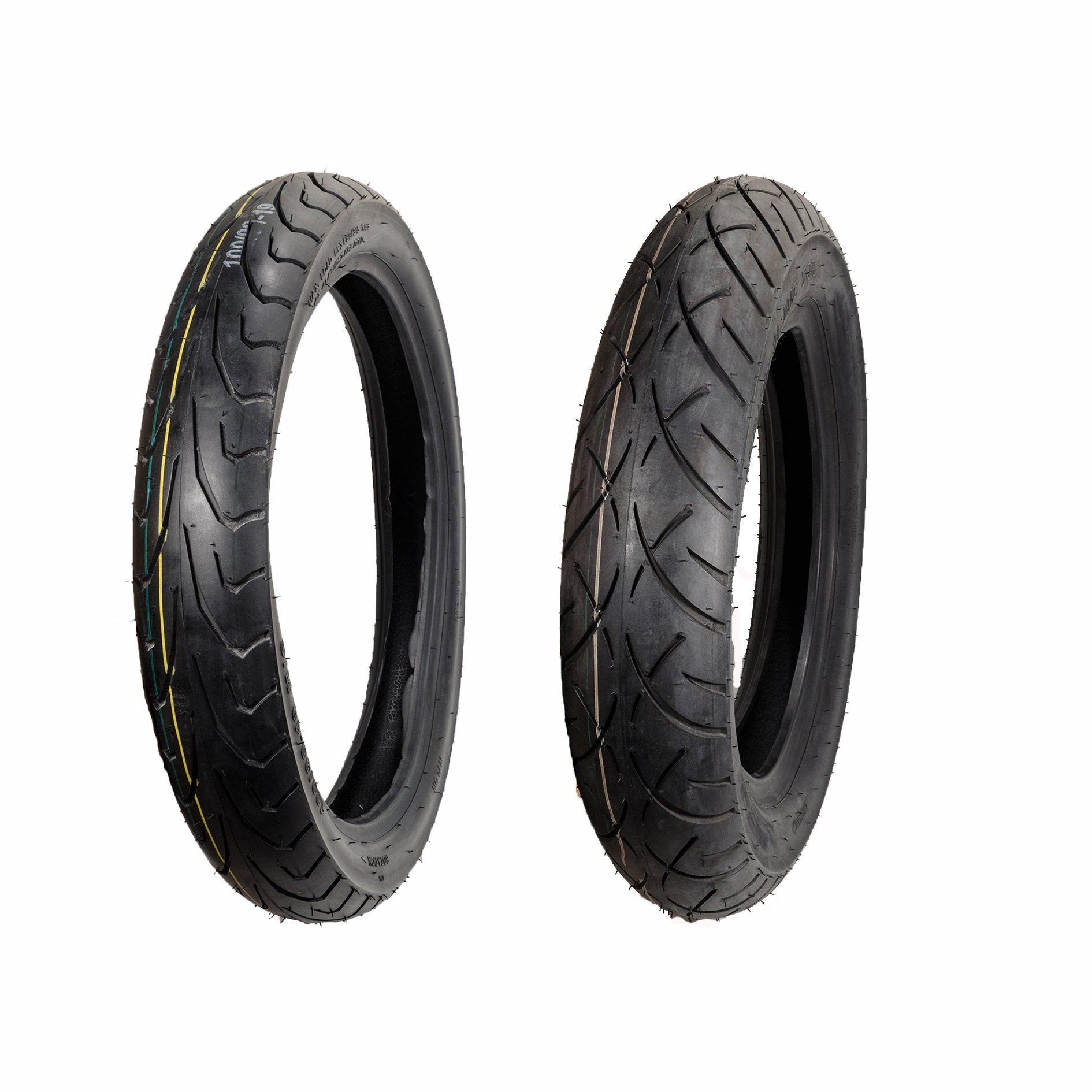 Max Motosports Moto Tire 100/90-19 Front & 130/90-16 Rear 6 PLY