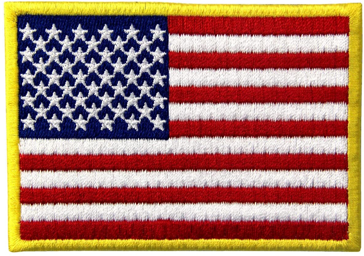American Flag Patch Embroidered National Flag Patch Iron on USA US United States