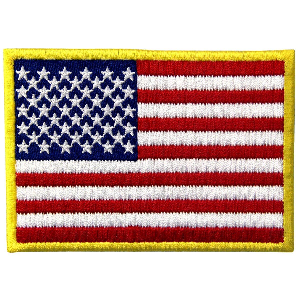 Tattico Bandiera Americana Stati Uniti d'America Emblema Nazionale Termoadesiva Cucibile Ricamata Toppa, Bianco nero EmbTao