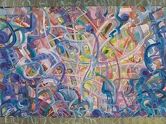 Los Engranajes Del Tiempo III Pintura Abstracta Original Hecha A Mano