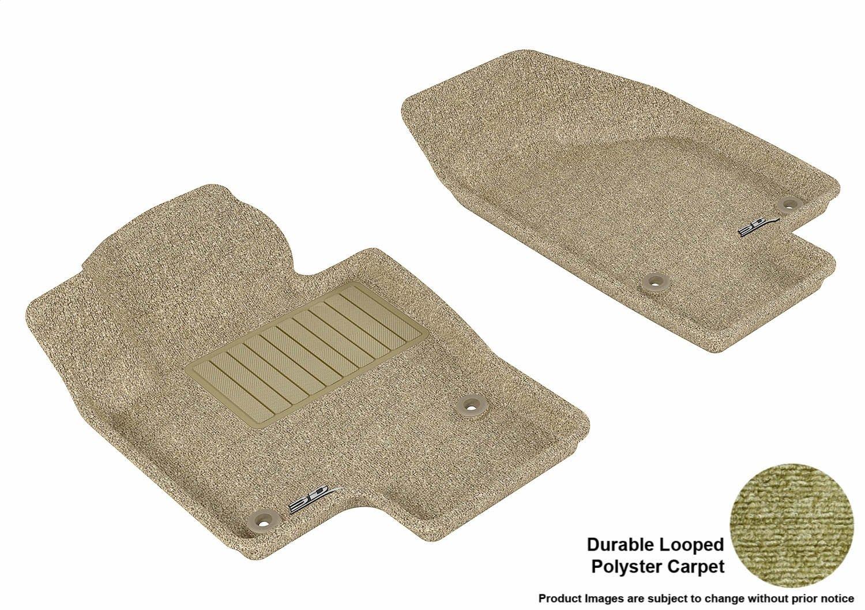 Classic Carpet 3D MAXpider Complete Set Custom Fit Floor Mat for Select Volkswagen Passat Models Tan L1VW01502202