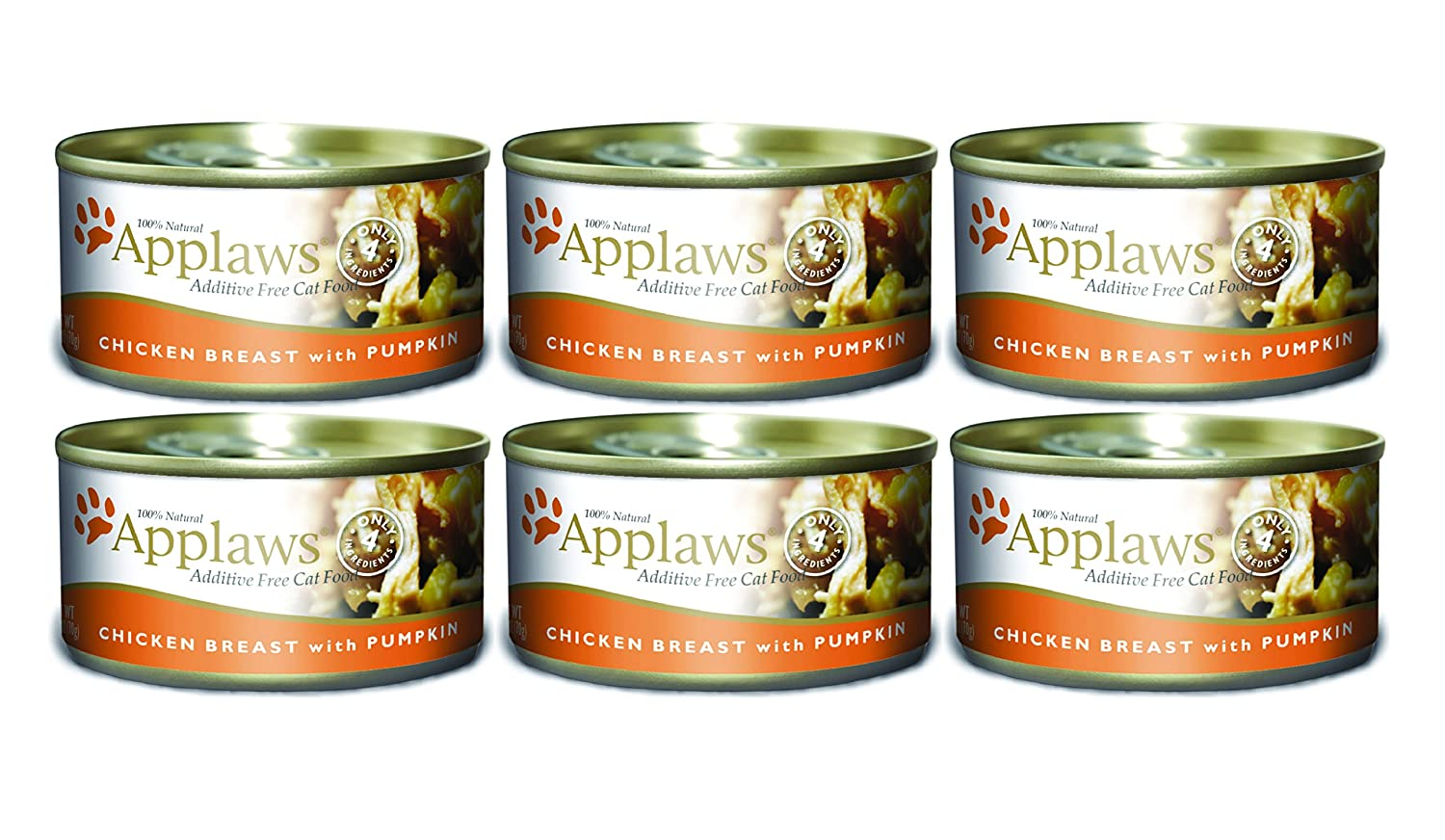 Amazon.com : Applaws Chicken Breast with Pumpkin Canned Cat Food 2.47 oz x 6 cans : Pet Supplies