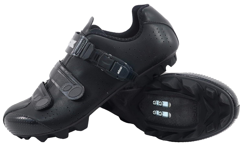 NOIR LUCK Chaussures de vélo VTT ODíN avec Semelle en Carbone et Fermeture millimétrique de précision. 44 EU