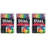 Tombow Dual Brush Pen Art Markers sRmpr, 3Pack Bright Brush Pens