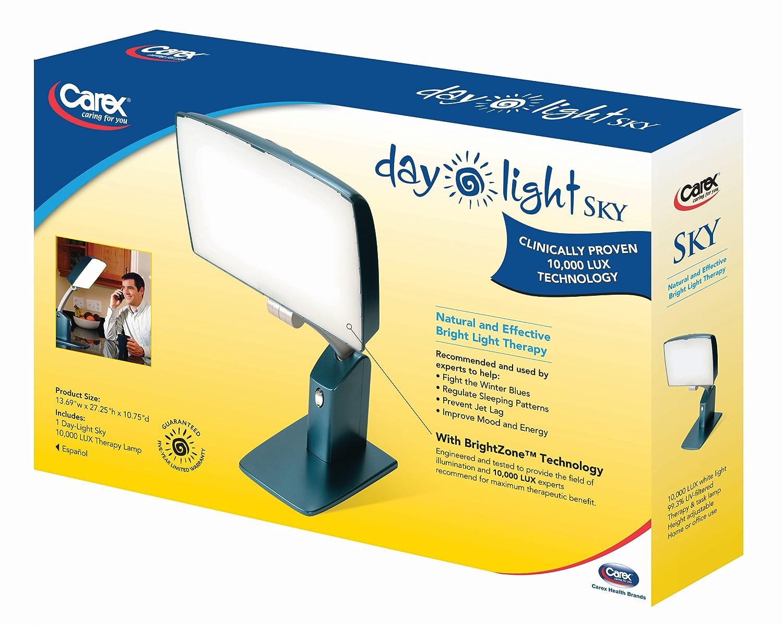 Amazon.com: Carex Health Brands Day-Light Sky 10,000 LUX Bright ...