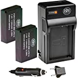 BM Premium 2-Pack Of LP-E12 Batteries and Charger Kit for Canon SX70 HS, Rebel SL1, EOS-M, EOS M2, EOS M10, EOS M50, EOS M100 Digital Camera