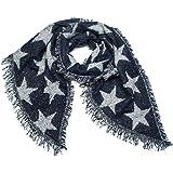 styleBREAKER Châle XXL tissé douillet pour femme avec des étoiles, des  perles et des franges 842e0b70788