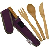 5 Piece RePEaT Utensil Set Color: Mulberry by To-GoWare