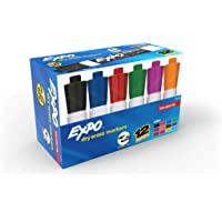 EXPO Low Odor Dry Erase Markers, Chisel Tip, Assorted Colors, Box of 12