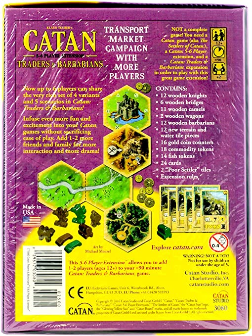 Traders & Barbarians of Catan 5/6 Player Extension: Amazon.es: Electrónica