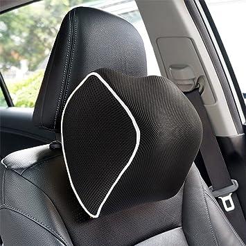 Epmic Nackenkissen Auto Kopfstütze Halsstütze Ergonomisches Nackenstütze Memory Schaumstoff Kopfstütze Kissen Für Auto Schwarz Auto